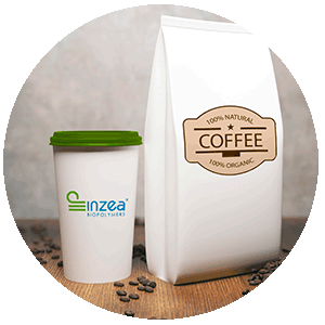Compostable Coffee capsulses and tea bags made of INZEA Biopolymers