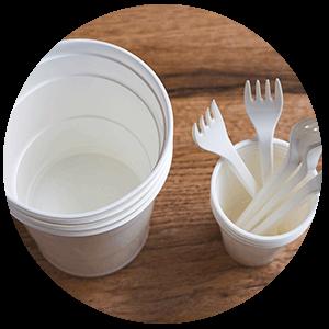 Material Catering mono uso moldeo por Inyección NUREL INZEA Biopolymers