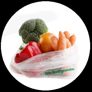 Bolsas de supermercado Compostables 60% biobasadas