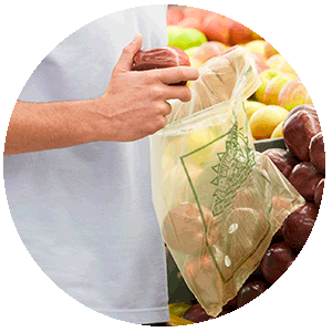 HOME Compost Carrier Bags Applications NUREL INZEA Bioplastics
