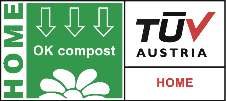 NUREL Biopolymers INZEA Biopolymers TÜV Home Compost Logo Certification