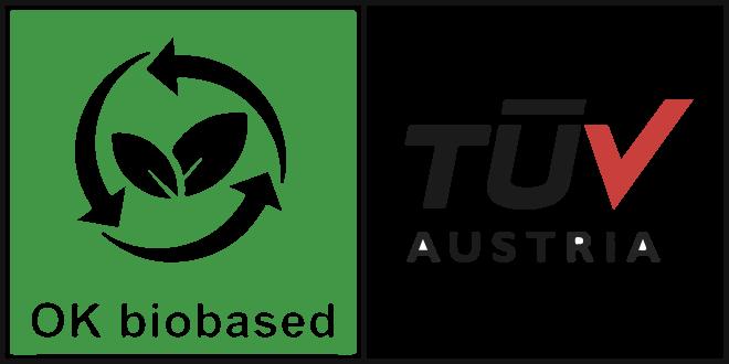 NUREL Biopolymers INZEA Biopolymers TÜV Biobased Content Certification Logo