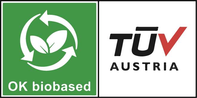 NUREL Biopolymers INZEA Biopolymers TÜV Biobased Content Logo Certificación