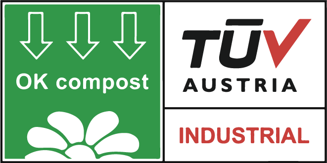 NUREL Biopolymers INZEA Biopolymers TÜV OK Compost Logo Certificación
