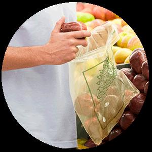 HOME Compost Retail Bags Applications NUREL INZEA Bioplastics
