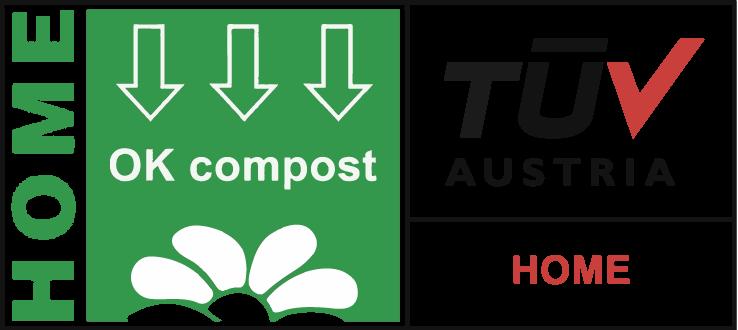 NUREL Biopolymers INZEA Biopolymers TÜV Home Compost Logo Certificación
